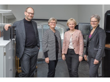 Lars Ilshammar, Gunilla Herdenberg, Helene Hellmark Knutsson och Karin Röding.