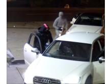 CCTV still of suspects at petrol station Loughton