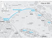 Karta Akalla - Barkarby Station
