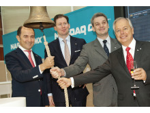 Cavotec's Ottonel Popesco, Michael Scheepers, Diego Fiorentini and Stefan Widegren at the NASDAQ OMX