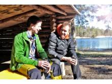 Jocke Sundberg & Stefan Gustafsson i vindskydd tidig vår