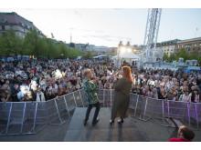 Singalong at Stora scenen in Eurovision Village Kungsträdgården in Stockholm