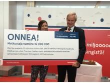 Norwegianilla 10 miljoonaa matkustajaa Helsinki-Vantaalla