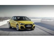 Audi A1 (Python Yellow) forfra