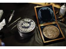 Pistrucci Waterloo Medal die and bronze 19th century electrotype