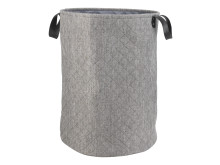 Laundry basket TROELS Ø42xH55cm grey (129 DKK)
