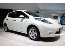 Nissan Leaf hvit
