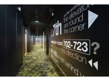 Korridoren hjälper till att visa vägen - på U&Me är gästen med och skapar sin upplevelse