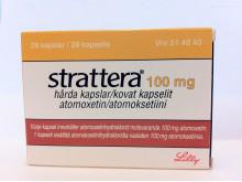 Strattera 100 mg förpackning