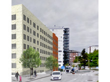 Kvarteret Bonden, Trångsund (tidig skiss)