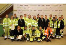 Gruppbild på samtliga tävlande i Linköping