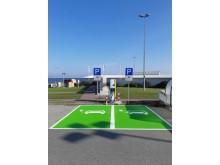 Schnelllader_Parkplatz_BorderShop_Puttgarden