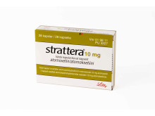 Strattera 10 mg förpackning