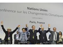 Illustrasjonsfoto: Enighet på COP21-møtet i Paris desember 2015