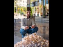 Félix González-Torres, Untitled (Fortune Cookie Corner), 1990. installation view