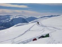 Schneeschuhwandern auf dem Weg zur Trolltunga