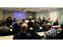 Oscar Civill berättar om Weblinks kommande nyheter för intresserade återförsäljare I Stockholm