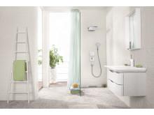 Hansgrohen suihkuja ja hanoja on saatavana vettä säästävinä malleina