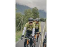 Sykkelteamet med Jan Aasmann Størksen, daglig leder for Others Global,  i front.