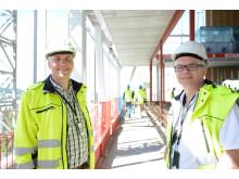 Eiendomsdirektør Tore Fredriksen og seksjonssjef Runar Berget.