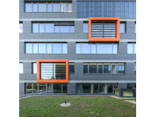 Lamellenfenster von EuroLam am Berufsschulzentrum Stuttgart