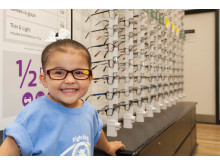 Youngster fighting eye cancer joins Vision Express to officially open new Berkshire opticians