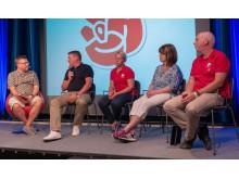 Socialdemokraterna anordnade ett samtal om välfärdens utmaningar .