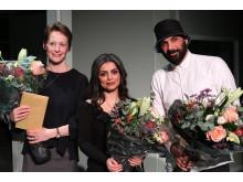 De tre vindere. Fra venstre Tine Smedegaard Andersen, Sara Omar og Zaki Youssef.