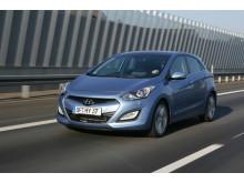 Nye Hyundai i30 i fart forfra