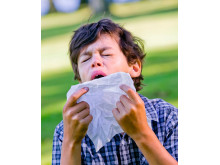 Pollenallergi  - pojke med symtom