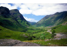 Road twisting through the valley, Glencoe, Highland, Scotland ©Visit Britain