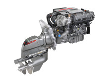 Hi-res image - YANMAR - YANMAR 4LV sterndrive marine diesel engine fitted with the YANMAR ZT370