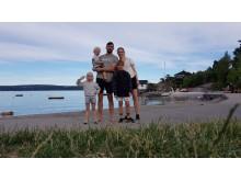 Familien Ekroll fra Nesodden ble de heldige vinnerne av to opphold hos Quality Hotel i sommer Foto: Jan Anders Ekroll