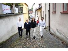 Bild från presskonferens i Almedalen om Northvolts etablering