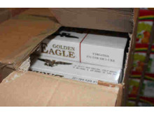 Op Quadrant Boxes of Golden Eagle cigarettes