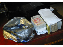 Cash seized from a safety deposit box