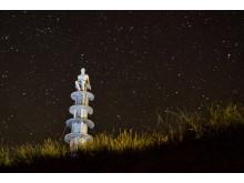 Art under Alderney's night sky