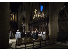 The Northumbria University Choir perform at Newcastle Cathedral during the University's 25th anniversary service earlier this year