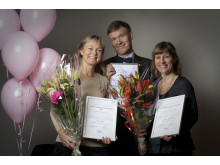 Hjältar i bröstcancervården belönas – Eva Alm, Jonas Bergh och Elisabeth Stolpe Rados