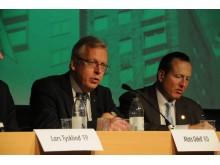Mats Odell och Anti Avsan, byggpolitisk debatt, Nordbygg 23/3.