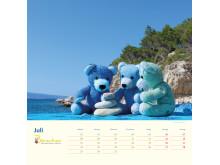 Mit Bärenherz durch das Jahr 2019 - Der neue Bärenherz-Kalender