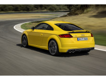 TTS Coupe yellow rear left side dynamic