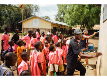 WE LOVE YOUGANDA: Mos Opten from Uganda during a Water ART Sanitation workshop in Moroto
