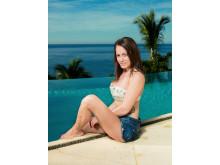 Tina på Paradise Hotel - foto Rune Bendiksen