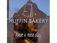 Fönsterdekor Muffin bakery
