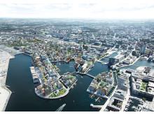 Visionsbild över Nyhamnen, MandaWorks