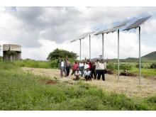Kunstvanding m solceller og Grundfospumpe
