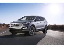 Ny Hyundai Santa Fe: Skrått forfra venstre.