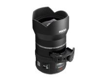 Pentax-DA645 25mm F4AL [IF] SDM AW med filterhållare utdragen