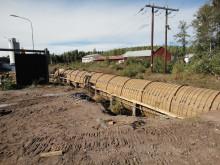 Ny trätub vid Kvillsfors vattenkraftverk